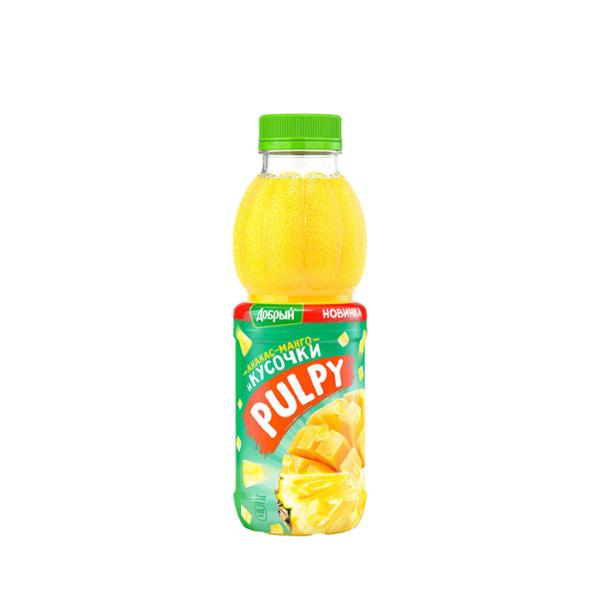 Сок PULPY «Ананас-Манго» 0,45 л.