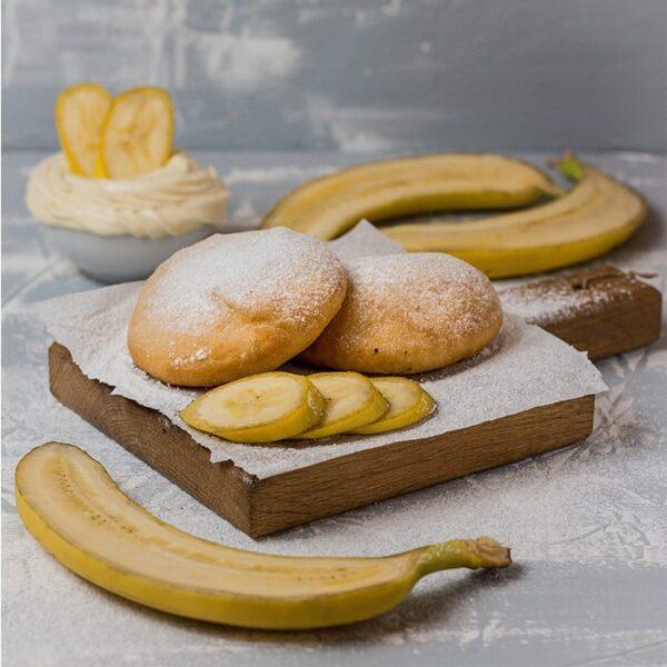 Пончини с кремом и бананом