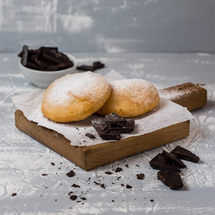 Пончини с шоколадом