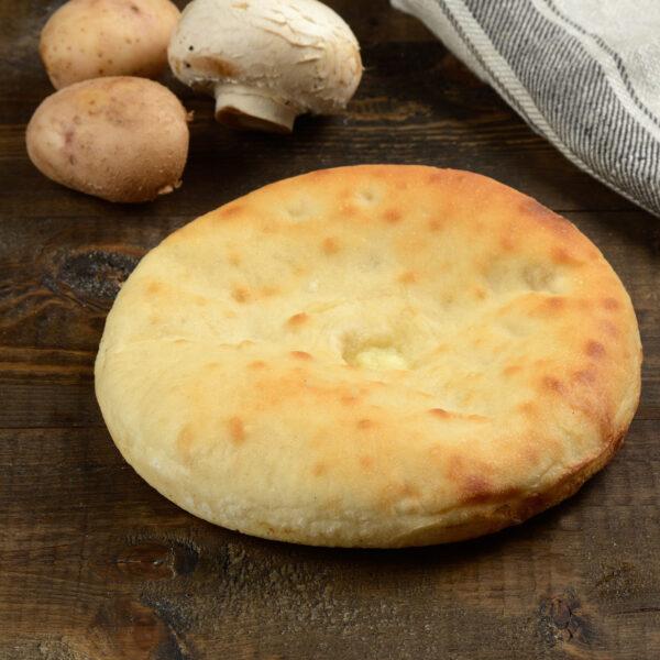 Мини пирог с картошкой и грибами