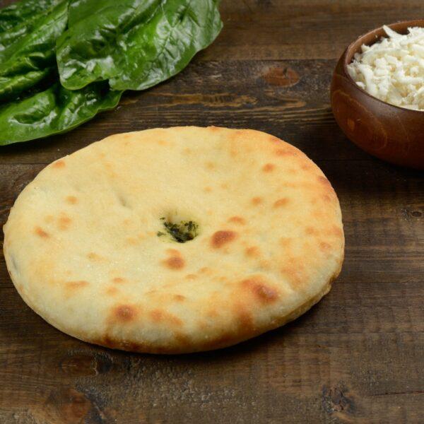Мини пирог с сыром и ботвой
