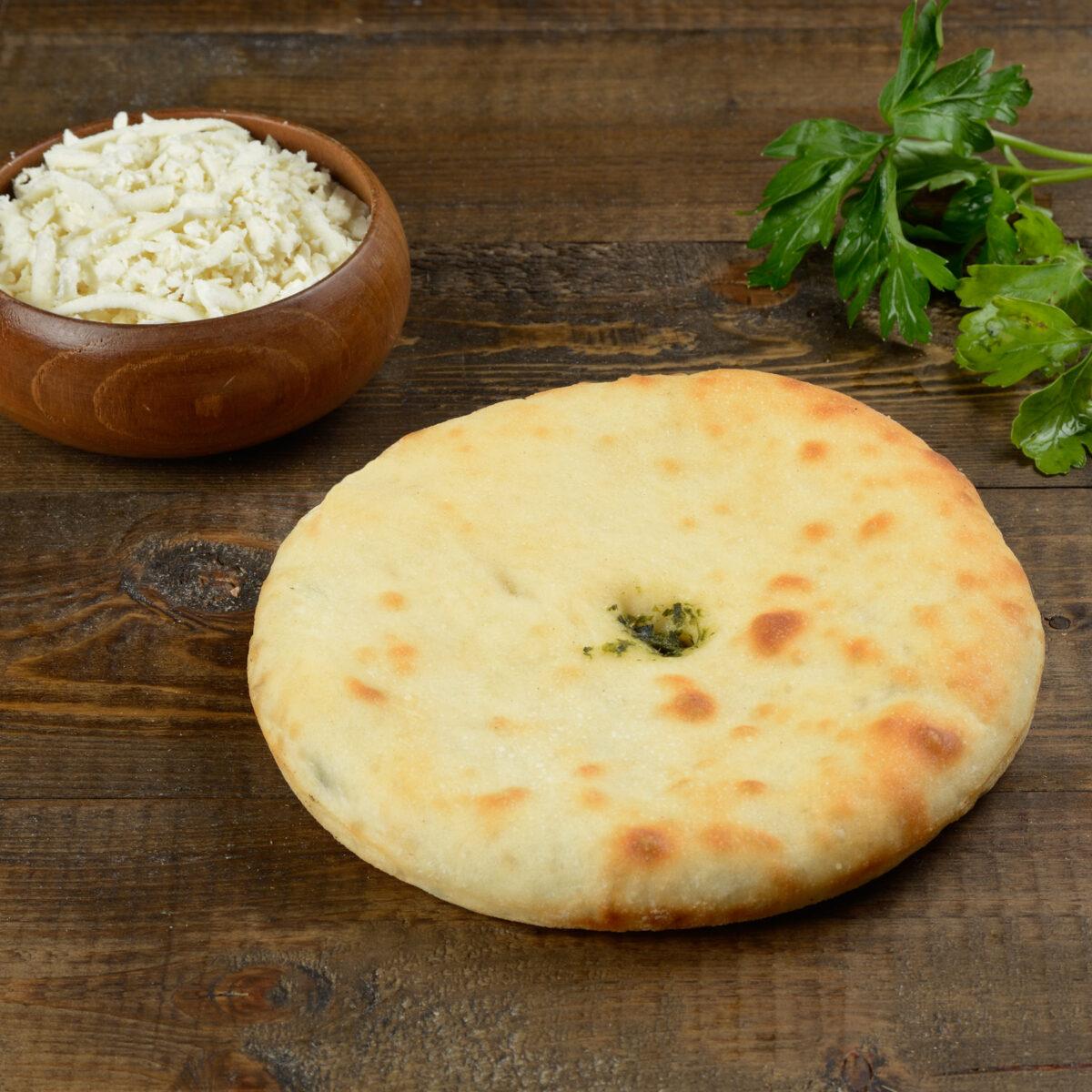 Мини пирог с сыром и зеленью