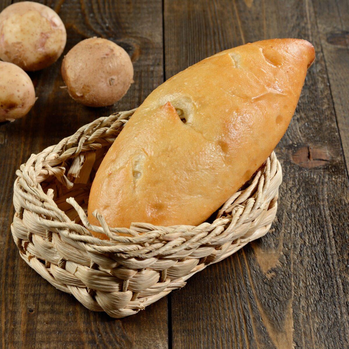 Постные пирожок с картошкой