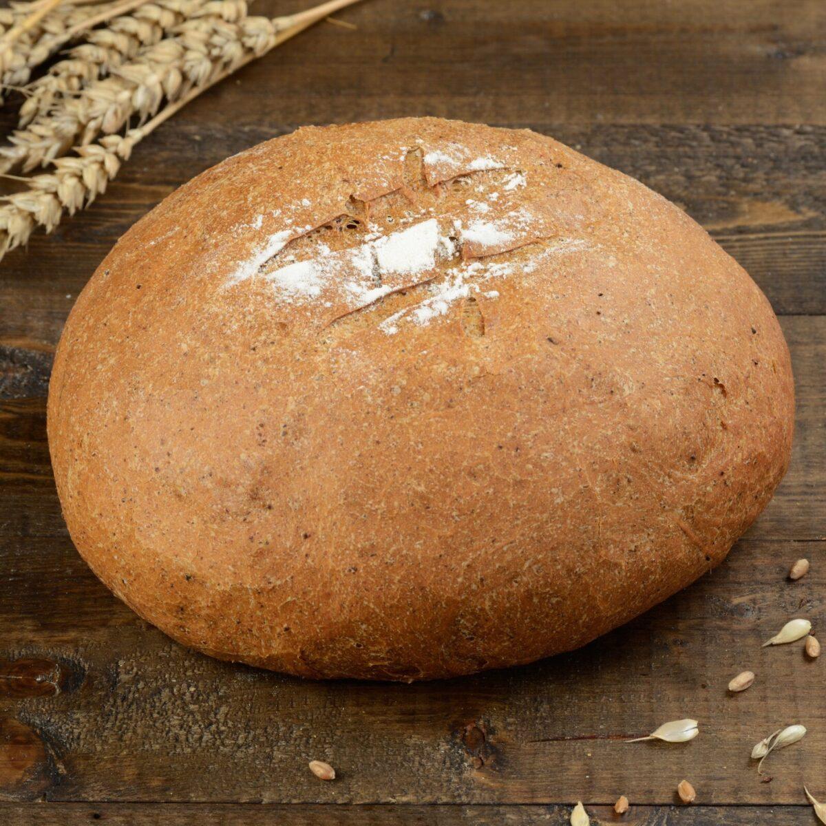 Хлеб серый круглый